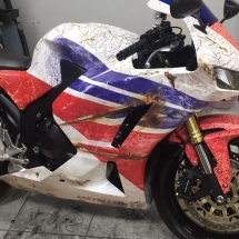 Honda CBR ratlook. Side view.