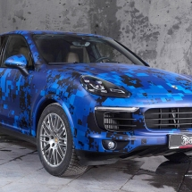 Porsche Macan Digital Blue Camo