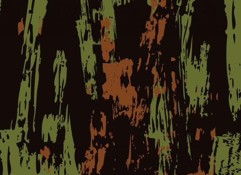 Textured Iiron Dry Brush Woodland
