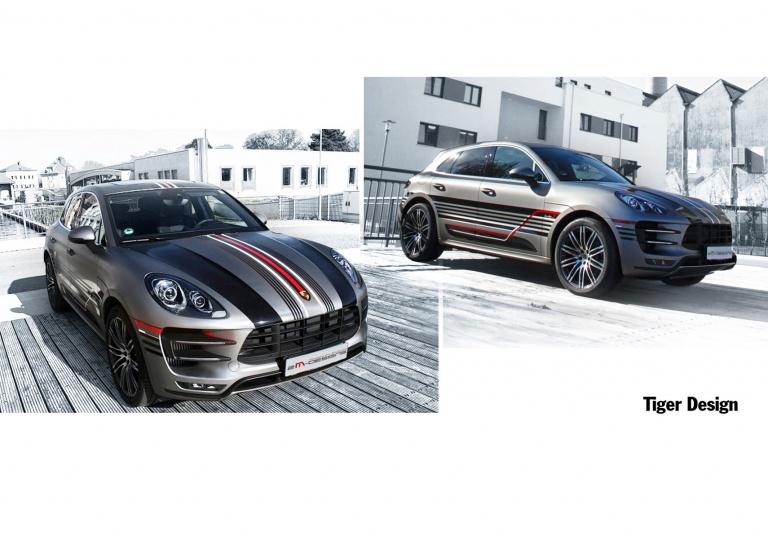 Decal Porsche Tiger-Design