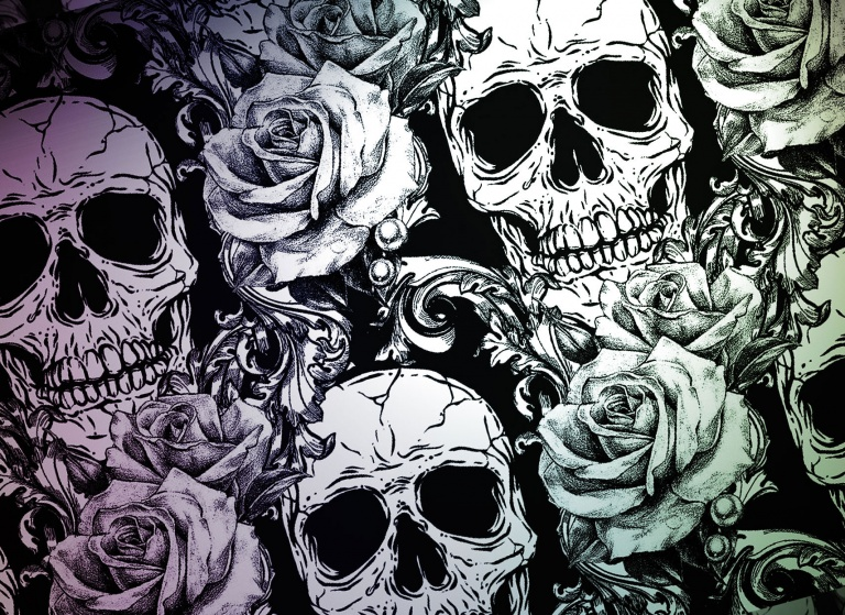 Rose-and-skull